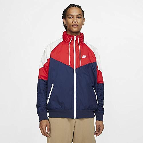 Nike Herren Sportswear Windrunner Weste, Mitternachts-Navy-Blau University Rot Weiß, L