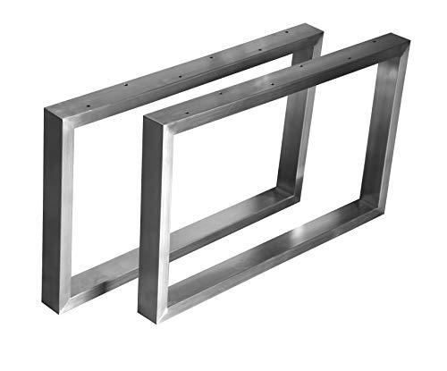 CHYRKA™ Kufengestell Tischgestell Edelstahl 201 40x20-200 Rahmentisch Tischkufe Tischuntergestell (200x600 cm - 1 Paar)