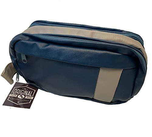 Toiletry Bag Overnight Wash Gym Shaving Bag for Men and Women - Blue & Grey