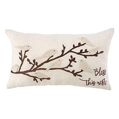 Mud Pie Flutter Bird Pillow, Brown