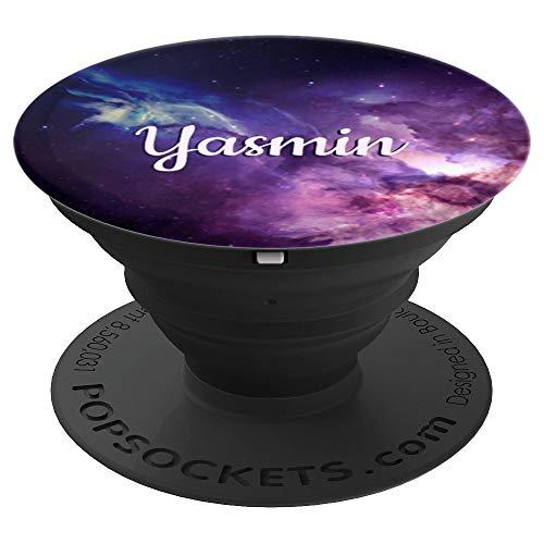 Yasmin Name Geschenk - Galaxie-Motiv Yasmin - PopSockets Ausziehbarer Sockel und Griff für Smartphones und Tablets