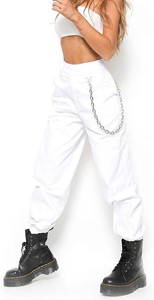 X Xya Pantalones De Carga Para Mujer Pantalones De Hiphop Punk Jogger Sport Harem A M Amazon Es Hogar