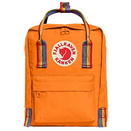 FJALLRAVEN Gepäck, Blau (Burnt Orange-Rainbow-Muster)