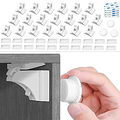20 Pack Child Safety Magnetic Cabinet Locks wit...