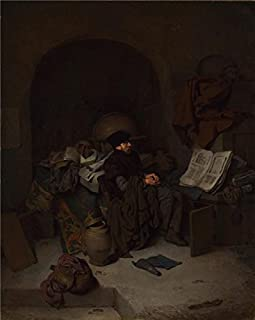The high quality polyster Canvas of oil painting 'Cornelis Bega - An Astrologer,1663' ,size: 12x15 inch / 30x38 cm ,this Imitations Art DecorativeCanvas Prints is fit for Kids Room decor and Home decoration and Gifts