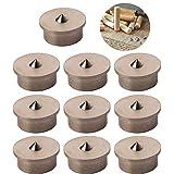 CESFONJER 10 piezas Herramienta de alineación de la espiga de, centros de clavijas de madera, 12 mm