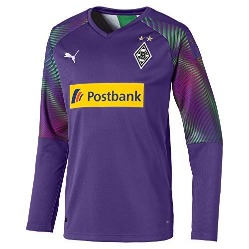PUMA Jungen BMG GK Shirt Replica Jr with sponsor Torwarttrikot, Prism Violet, 140
