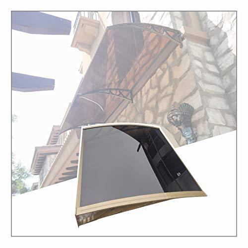 LIANGLIANG Vordach Haustür Überdachung, Schalldicht Anti-Lärm Flammhemmend Schlagfest Anti-UV, Wird für Trauffenster des Innenhofs Der Villa Verwendet (Color : Brown, Size : 160x60cm)