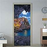 Einfache europäische Aufkleber an den Türen Home Design