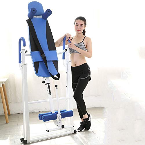 Lowest Price! MUYIER Inversion Table 300 Lbs Capacity,Inversion Table with Heat and Massage-Easy to ...