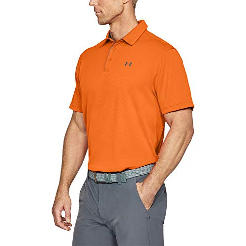 Under Armour Men's Tech Golf Polo , Team Orange (800)/Graphite , Large