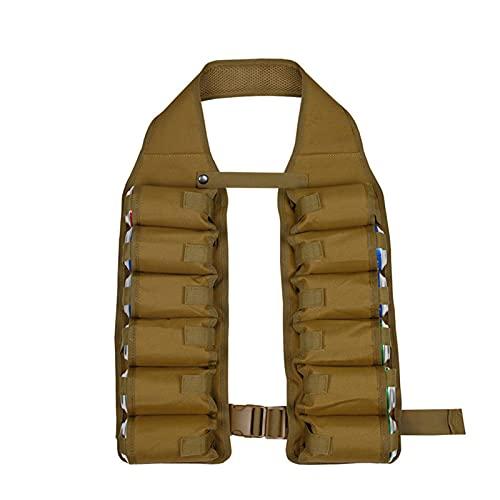 DSFSAEG Chaleco de bebida con cinturón de cerveza, 12 bolsillos para fiestas, botellas de vino para viajes de camping al aire libre (marrón)