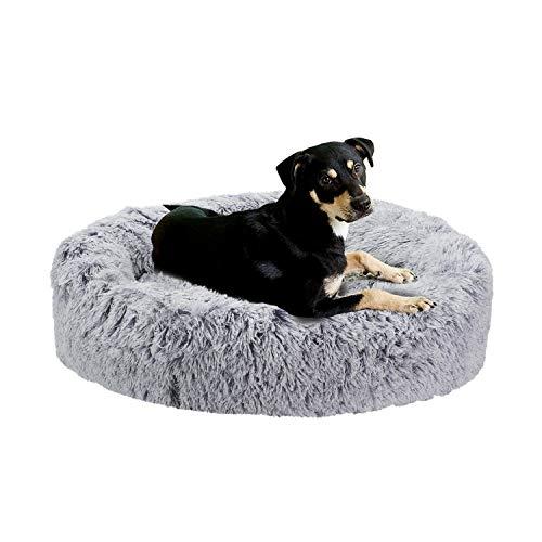 BingoPaw Cama para Perros, 70 x 70cm Cojín de Felpa Suave y Cálido para Mascotas, Colchoneta Gato Desmontable y Lavable, con Forro Impermeable y Base Antideslizante