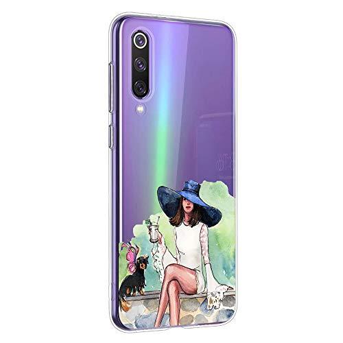 Oihxse Coque pour Samsung Galaxy A01, Etui en Transparente Silicone TPU 3D Protection Bumper Ultra Mince Cristal Housse avec Motif Fille D'Ete Mer Anti Choc Cover (A1)