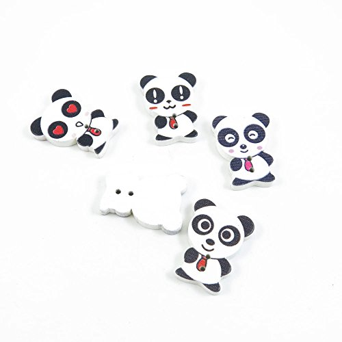 Best Price 450 Pieces Sewing Wood Buttons Sew On Arts Crafts Notions Supplies Fasteners EM097 Panda