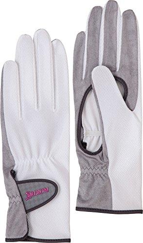 DUNLOP(ダンロップ) レディース テニス グローブ 両手セット 手のひら側穴あきタイプ SGG0730 ホワイト(003) S