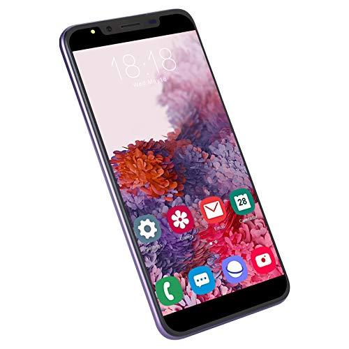 M30PLUS 5.72in Smartphone, 512MB + 4G Versión Internacional 3G Teléfono Inteligente, Dual SIM + Ranura para Tarjeta de Memoria Teléfono Celular para Sistema Android(púrpura)