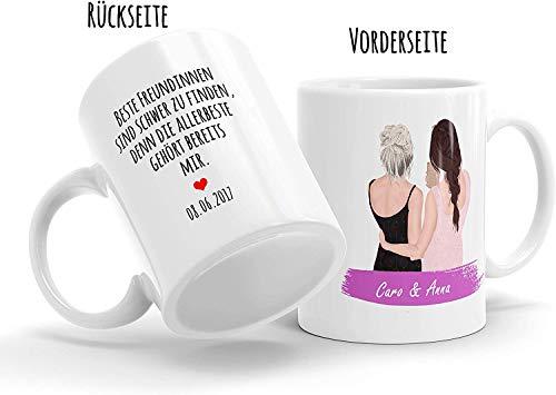 Beste Freundin Tasse - Aussehen u. Namen anpassbar - personalisierte Kaffee-Tasse - das ideale Geschenk für für deine BFF