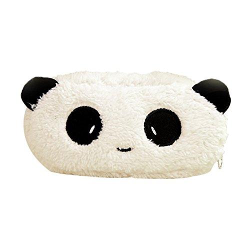 LAMEIDA Estuche Escolar con Estilo de Panda y Conejito Bolsa de Lapices Bolsa de Herramienta de Papelería de Felpa para Niños Estudiantes Muchachas La Escuela