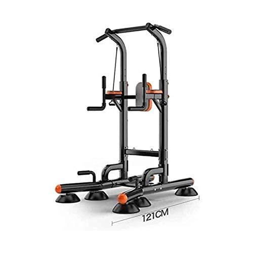 MGIZLJJ Fitness Power Tower Home Gym Gym Entrenamiento Ejercicio Pull Ups Equipo de Fitness Pull-ups Hogar Pesado (Color : Black)
