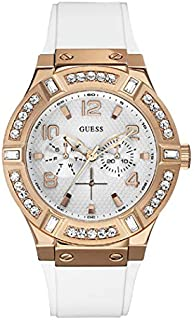 Guess Sport Watch for Women, Stainless Steel Case, White Dial, Analog -W0614L1