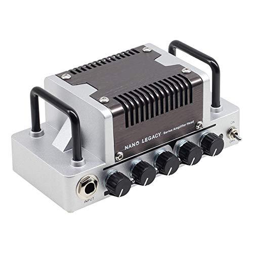 ZXCV Rock Sound Gitarrenverstärkerkopf, 5 Watt Class AB Verstärker mit CAB SIM-Telefonen/Line-Ausgang,Silber