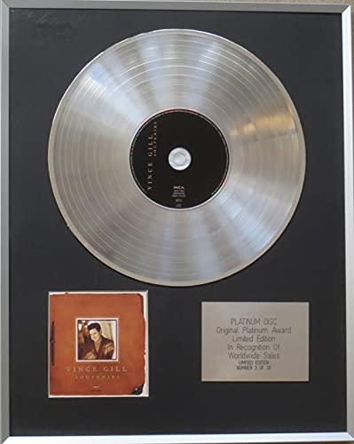VINCE GILL - Disco de disco de platino CD - SOUVENIRS