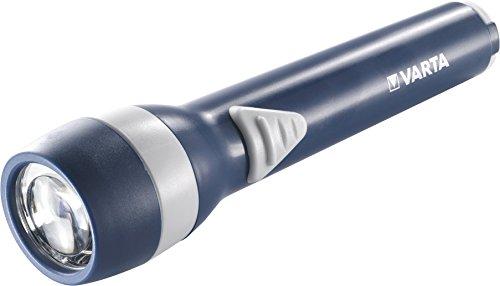 Varta 5 mm LED Spot Light 2AA Taschenlampe Flashlight Leuchte Lampe Handtaschenlicht Allzweckleuchte Taschenlicht (geeignet für Haushalt Schlafzimmer, Kinder, Garage, Stromausfall, Outdoor, Notfall)
