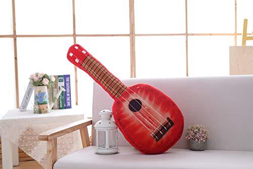 qingbaobao Cartoon Simulation Obst Orange Gitarre Kissen Plüschtier, Plüsch Schlaf Puppe Kissen Puppe (60 cm)
