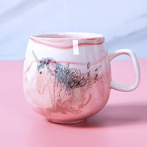 AOARR Getöpferte Tassen Cup Kaffeetassen Keramikbecher Travel Cup Cute Cat Foot Ins 72 * 85Mm 350Ml Süße Tasse-E