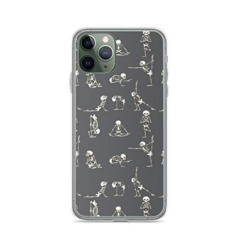 Skeleton Yoga Gray Phone Case Compatible with iPhone 6 6s 7 8 Plus X Xs Xr 11 Pro Max Samsung Galaxy Note S9 S10 S20 Plus