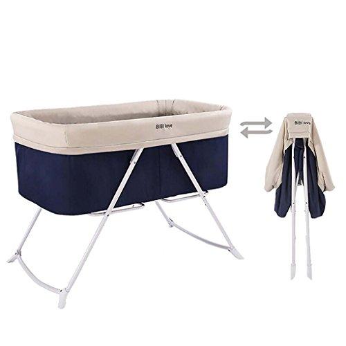 HNBC Handig Draagbare wieg, Multifunctioneel Babybed, Inklapbaar Gratis Installatie Groen Babywiegbed, Doek Art Vier Kleuren Optionele Belasting 15 Kg (kleur : Navy)