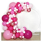 JSJJAES Globos Guirnalda de Globo Rosa - Globos de látex Blanco Rosa Rosa metálico - para Barbie Theme Party Girl Cumpleaños Baby Baby Shower ( Color : 3 )