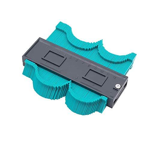 HEQUN Perfil Gauge, Medidor de Contornos,Contour Gauge Duplicator Ideal para Azulejos Edge Shaping Madera Medida & Azulejos laminados (S)