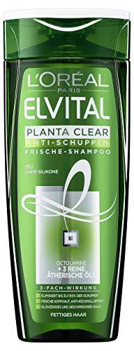 L'Oréal Paris Elvital Planta Clear Anti-Schuppen Frische Shampoo für fettiges Haar, 6er Pack (6 x 250 ml)