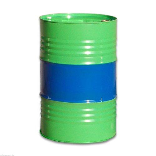 Maier Stahlfass Blechfass Spundfass Ölfass Deckelfass Metallfass, 216 Liter (grün/blau)