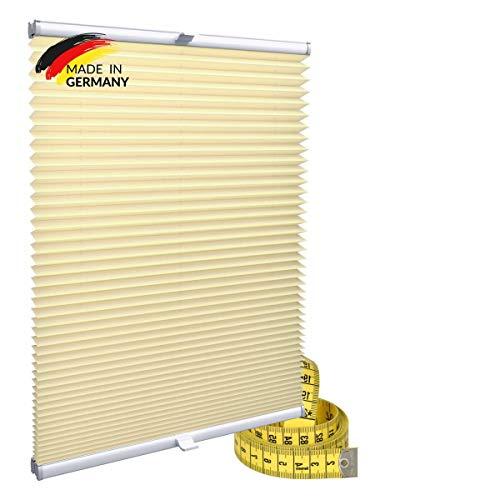 Gardinen21 Plisseerollo ohne Bohren | Plissee-Klemmfix | Plissee 75x100 für Türen & Fenster | Sonnenschutz, Sichtschutz für Fenster, Blickdichte Rollos