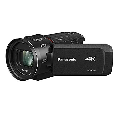 Panasonic HC-VX11EG-K 4K camcorder (Leica Dicomar-lens met 24x opt. zoom, 4K en Full HD video, optische beeldstabilisator).