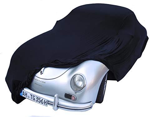 EXCOLO Auto Schutzhülle Schutzhaube Plane Indoor Hochwertig rot grau oder schwarz bis 5,80 m lang (Schwarz bis 5,10 Meter)