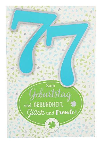 Depesche 5698.098 Glückwunschkarte mit Musik, 77. Geburtstag