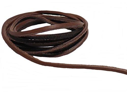 AW-Collection Lederriemen Lederschnüre Lederband Rindleder 2 m schwarz braun oder natur (braun)