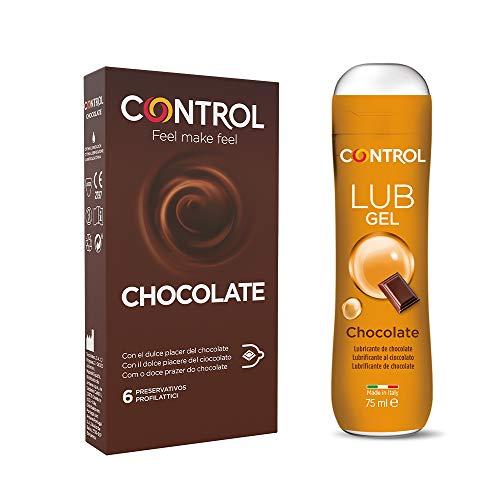 Control Chocolate Mix cofanetto di preservativi e gel lubrificante all'aroma di cioccolato