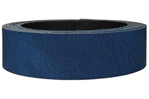 Lederriemen Rindsleder 'Pull Up', in vielen Farben, Gürtelleder, Lederstreifen, Farbe:Pull Up blau,...