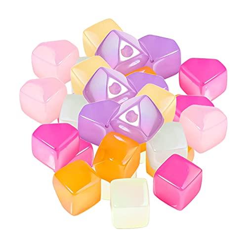 N\C 30PCS Mini Cuentas de acrílico 13mm Star Charms Beads para Hacer Joyas Pulseras Collares Pendientes Llaveros Accesorios Manualidades DIY Regalos de
