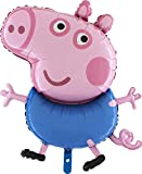 Peppa Pig Toyland 37 Inch Giant Jumbo Size Characters -Peppa Or George- Foil Balloon - Kids Party Balloons (George Pig)
