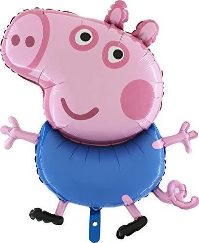 TOYLAND® - Personajes de Peppa Pig de tamaño Gigante Gigante de 37 Pulgadas -Peppa o George- Globo de Aluminio - Globos para niños (George Pig)