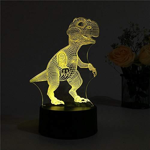Luz nocturna para niños con 7 cambios de color, 3D, lámpara de escritorio, regalo de Navidad, lámpara de mesa para salón, decoración de mesa, LED 3D, regalo para niños