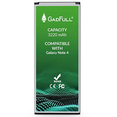 GadFull Akku für Samsung Galaxy Note 4 | Entspricht Dem Original EB-BN910BBE | Lithium-Ionen-Akku der Modelle SM-N910F | SM-N910U | SM-N910C | SM-N910H | SM-N910A