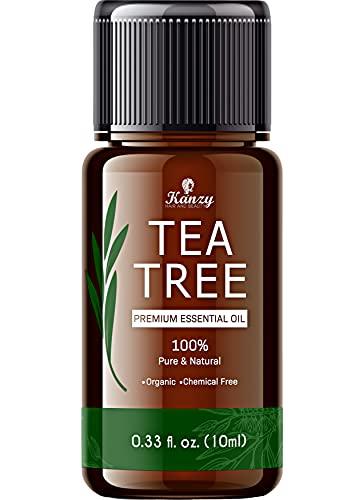 Kanzy Aceite de Árbol de Té 100% Puro 10ml Natural Tea Tree Oil Perfecto Tratamiento para Cara, Cuerpo, Piel y Cabello Aceite Esencial Arbol te Bio Puro