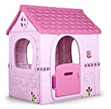 FEBER Famosa 80001222222 Fantasy House - Spielhaus für Kinder von 2 bis 6 Jahren, rosa